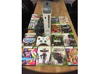 Xbox 360 Slimline 250Gb Bundle 13 Top Games 1 Wireless Pad All Leads Excellent Condition