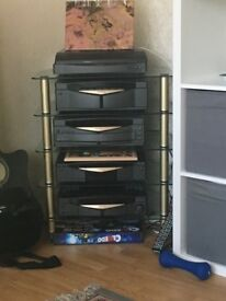 5 piece Kenwood music centre also stand and speakers