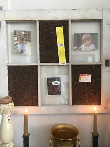 Antique Window Photo and Message Board