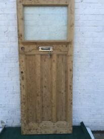 1930's Wooden front door (stripped)
