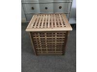 Ikea wooden bedside table