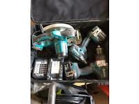 Makita set with batteries and charger