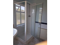 shower enclosure white