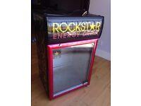 "Rockstar Energy Drink Lockable Refrigerator Bar Beer Fridge - Quick Sale READ DESC Not Husky"" *Sold"