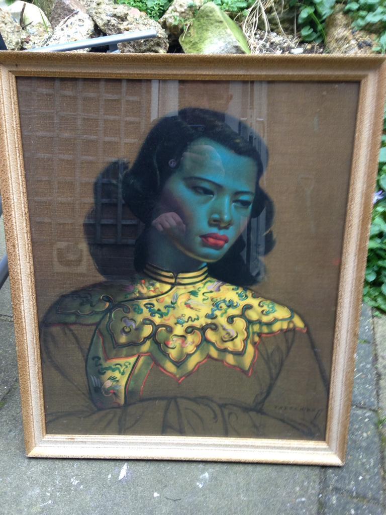Framed glazed Tretchikoff print Luton