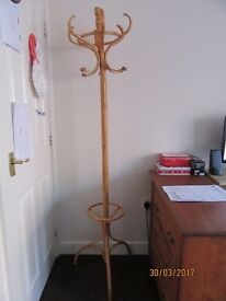 Wooden Hat and Coat Stand