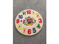 Telling the time wooden puzzle clock
