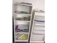 IKea white wooden book shelf