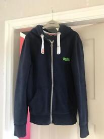 Men's Small Superdry Zip-Up Hoodie