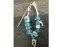 Turquoise themed beaded bracelets. Only £5 each. Can post or collect from Tqy