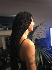 Hair extensions (weaves, braids, cornrows)
