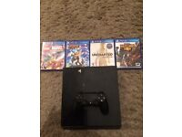 PS4 with 5 Games MINT