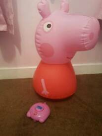 Remote controlled inflatable peppa