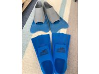 Swimming training fins/flippers - Size 1-3 & 4-5