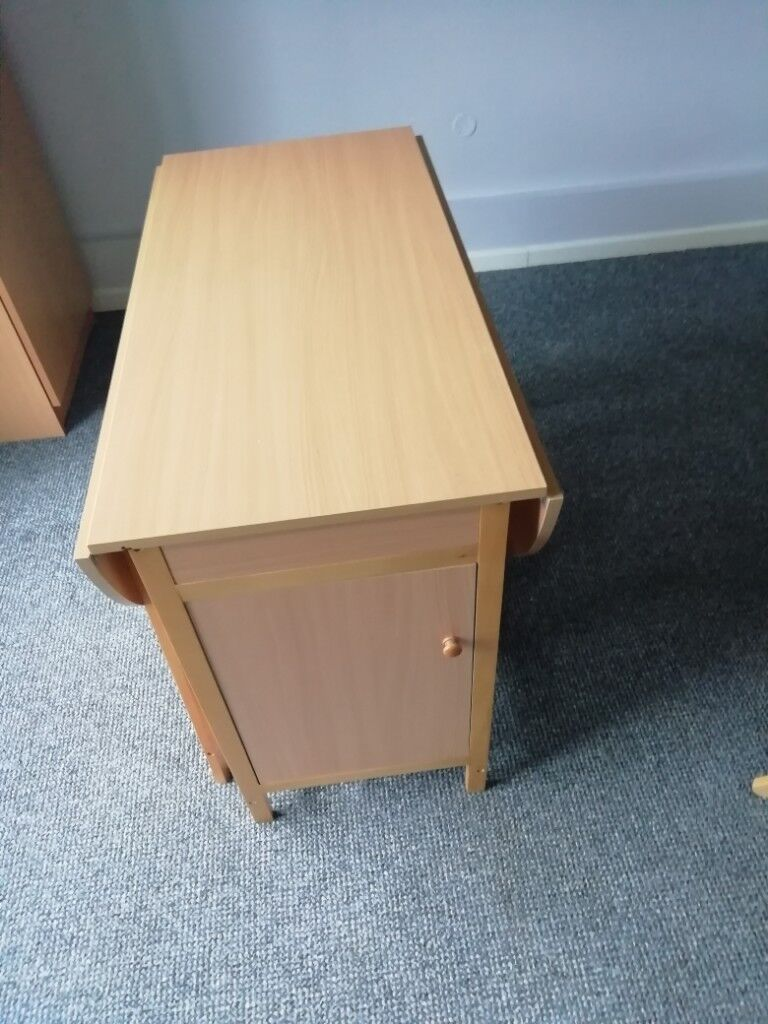 Argos Butterfly Drop Leaf Folding Dining Table and Four ...