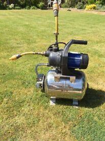 Garden water booster pump