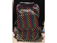 Multi coloured checkered back pack