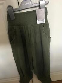 Next. Green harem pants. Brand new, girls 3yrs