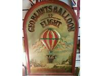 Air balloon plaque
