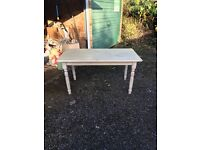 A pine kitchen table