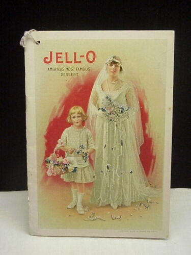 Antique Vintage Jell-o Recipe Booklet Complete with Insert 1916
