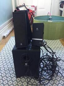 Logitech speaker system excellent working order
