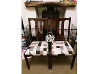 LOVELY PAIR OF SOLID WOOD DINING CHAIRS