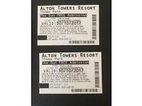 Alton Towers (Sun Promotion) x 2 Tickets