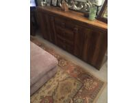 ***Brand New Living Room Sideboard & matching lamp table in beautiful Indian Opium Wood for sale