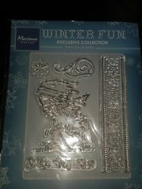 Marianne Design. Winter Fun Skier Clear Stamp. BNIB. Never Used.