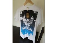 Ringspun Short Sleeve T-Shirts Skull Design - Small