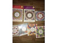 Colouring therapy books