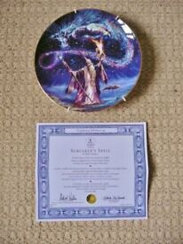 Royal Doulton The Sorcerer's Spell Fine Bone China Limited Edition Collectors Plate Wizard & Dragon