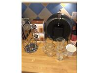 Dolce Gusto coffee machine and accessories