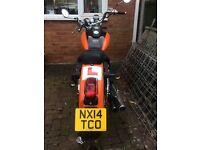 Daelim cruiser 125cc motorbike. Learner bike