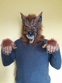 Werewolf mask & gloves