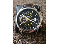 Raymond Weil Men's Brown Leather Strap Chronograph Watch model 7730