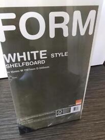 7 x white shelf boards (1197 x 245 x 15mm)