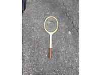 Vintage Gray Tennis Racket