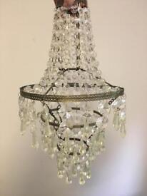 John Lewis ceiling crystal chandelier