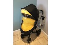 Silvercross Surf2 Travel System in Graphite Grey and Yellow for Sale