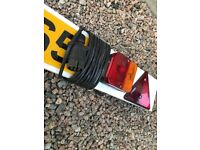 4FT LIGHTING BOARD, 4M CABLE WITH 7 PIN PLUG BOAT TRAILER JETSKI