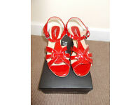 Cushion Walk red strappy sandals