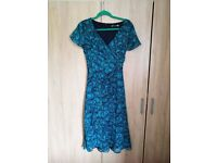 Teal Wrap over Dress Size 16