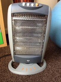 Electric Heater Portable Halogen Energy Efficient 3 Bar Small Bedroom Heating