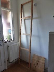 IKEA IVAR shelves and 1 side unit and 3 shelves, 50 cm deep