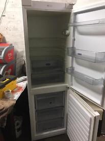 White fridge freezer tall