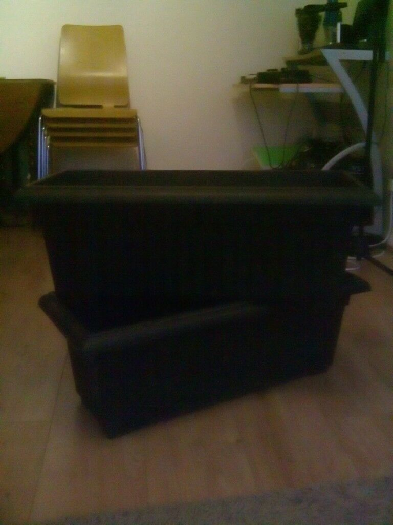 2 black plastic planters   in Enderby, Leicestershire   Gumtree on