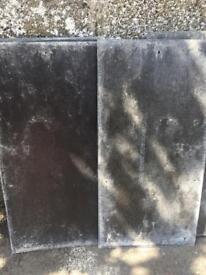 Artificial slate roofing tiles, 500 mm x 250 mm