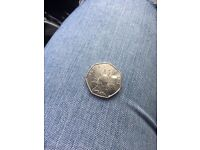 Peter rabbit 50p coin immaculate condition.